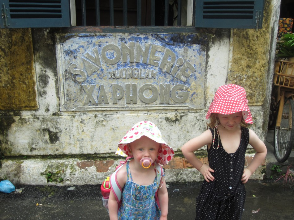 Hoi An with the kids