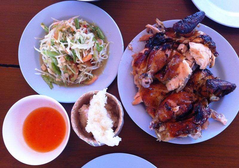 Chicken ans Som Tam