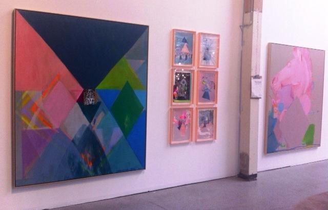 Miranda Skoczek's vibrant paintings at Koskela