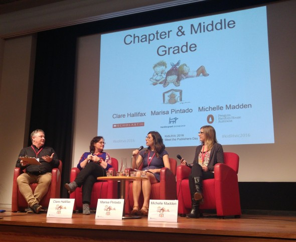 Chapter book and middle grade panel at KIdLitVic 2016