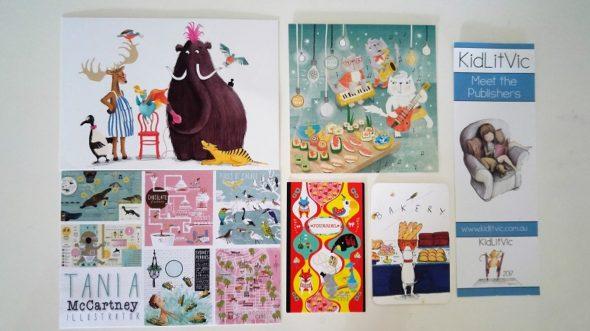 KidLitVic illustrators' cards