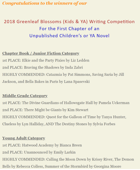 Greenleaf Blossoms announcement